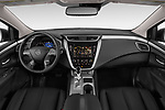 Stock photo of straight dashboard view of 2019 Nissan Murano SL 5 Door SUV Dashboard