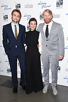 "Douglas Booth, Helen McCrory and director, Hugh Welchman<br /> arriving for the London Film Festival 2017 screening of ""Loving Vincent"" at the National Gallery, Trafalgar Square, London<br /> <br /> <br /> ©Ash Knotek  D3328  09/10/2017"