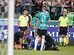 22.08.2019 Legia Warsaw v Rangers: Sheyi Ojo injured