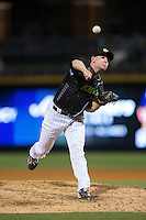 Charlotte Knights relief pitcher Brad Goldberg (21) in action against the Columbus Clippers at BB&T BallPark on May 3, 2016 in Charlotte, North Carolina.  The Clippers defeated the Knights 8-3.  (Brian Westerholt/Four Seam Images)