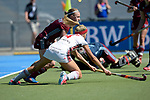 GER - Mannheim, Germany, May 27: During the women semi-final match between UHC Hamburg and Rot-Weiss Koeln at the Final4 tournament May 27, 2017 at Am Neckarkanal in Mannheim, Germany. (Photo by Dirk Markgraf / www.265-images.com) *** Local caption *** Hannah Gablac #4 of Rot-Weiss Koeln