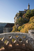 Europe/Europe/France/Midi-Pyrénées/46/Lot/Rocamadour: Cité religieuse - Le village et le sanctuiare dominé par le Château
