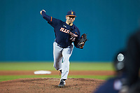 Illinois Fighting Illini relief pitcher GarrettActon (26) in action against the Coastal Carolina Chanticleers at Springs Brooks Stadium on February 22, 2020 in Conway, South Carolina. The Fighting Illini defeated the Chanticleers 5-2. (Brian Westerholt/Four Seam Images)