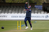 Simon Harmer of Essex warms up during Essex CCC vs Worcestershire CCC, LV Insurance County Championship Group 1 Cricket at The Cloudfm County Ground on 8th April 2021