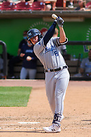 West Michigan Whitecaps first baseman Spencer Torkelson (8) takes a practice swing during a game against the Wisconsin Timber Rattlers on May 22, 2021 at Neuroscience Group Field at Fox Cities Stadium in Grand Chute, Wisconsin.  (Brad Krause/Four Seam Images)