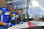 Zdenek Štybar (CZE) Deceuninck-Quick Step at sign on in Fortezza Medicea before the start of Strade Bianche 2019 running 184km from Siena to Siena, held over the white gravel roads of Tuscany, Italy. 9th March 2019.<br /> Picture: LaPresse/Gian Matteo D'Alberto   Cyclefile<br /> <br /> <br /> All photos usage must carry mandatory copyright credit (© Cyclefile   LaPresse/Gian Matteo D'Alberto)