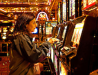 Casino slot machines.