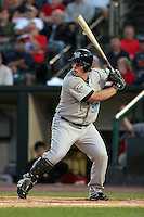 August 12 2008:  Right Fielder Travis Snider (50) of the Syracuse Chiefs, Class-AAA affiliate of the Toronto Blue Jays, at bat for his first career Triple-A home run during a game at Frontier Field in Rochester, NY.  Photo by:  Mike Janes/Four Seam Images