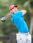 Contestants practice during the Mission Hills Celebrity Pro-Am on 24 October 2014, in Haikou, China. Photo by Xaume Olleros / Power Sport Images