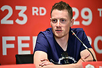 Sam Bennett (IRL) Deceuninck-Quick Step at the Top Riders press conference for the UAE Tour 2020 held at<br /> Westin Dubai Mina Seyahi, Dubai. 22nd February 2020.<br /> Picture: LaPresse/Massimo Paolone | Cyclefile<br /> <br /> All photos usage must carry mandatory copyright credit (© Cyclefile | LaPresse/Massimo Paolone)