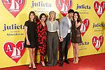 Spanish actors Michelle Jenner, Inma Cuesta, Emma Suarez, Daniel Grao and Adriana Ugarte attend the photocall of presentation of the Pedro Almodovar's new film 'Julieta'. April 4, 2016. (ALTERPHOTOS/Acero)