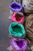 Jaipur, Rajasthan, India.  Coloring Pigment for Decorative Purposes, including Wedding Celebrations.