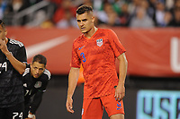 EAST RUTHERFORD, NJ - SEPTEMBER 7: Aaron Long #3 of the United States during the game during a game between Mexico and USMNT at MetLife Stadium on September 6, 2019 in East Rutherford, New Jersey.
