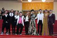 """FRA: """"American Honey"""" Red Carpet- The 69th Annual Cannes Film Festival - Andrea Arnold, Riley Keough, Veronica Ezell, Sasha lane, Isaisah Stone, Shia Labeouf, Mccaul Lombardi attend """"American Honey """". Red Carpet during The 69th Annual Cannes Film Festival on May 15, 2016 in Cannes, France."""