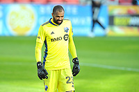 WASHINGTON, DC - NOVEMBER 8: Clement Diop #23 of Montreal Impact during a game between Montreal Impact and D.C. United at Audi Field on November 8, 2020 in Washington, DC.