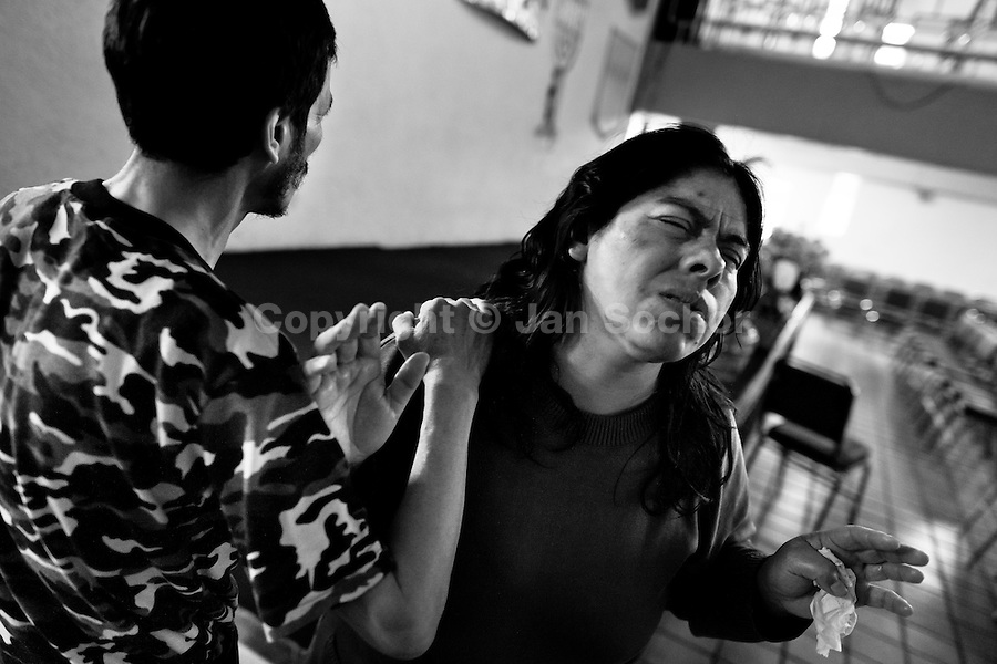 A Mexican woman prays after the exorcism ritual performed at the Church of the Divine Saviour in of Mexico City, Mexico, 31 May 2011. Exorcism is an ancient religious technique of evicting spirits, generally called demons or evil, from a person which is believed to be possessed. Although the formal catholic rite of exorcism is rarely seen and must be only conducted by a designated priest, there are many Christian pastors and preachers (known as 'exorcistas') performing exorcism and prayers of liberation. Using their strong charisma, special skills and religous formulas, they command the evil spirit to depart a victim's mind and body, usually invoking Jesus Christ or God to intervene in favour of a possessed person.