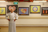 Marina Bay Sands' Executive Chef Christopher Christie poses in the basement, where the kitchen is located.
