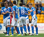 St Johnstone v Stirling Albion…30.07.16  McDiarmid Park. Betfred Cup<br />David Wotherspoon celebrates his goal<br />Picture by Graeme Hart.<br />Copyright Perthshire Picture Agency<br />Tel: 01738 623350  Mobile: 07990 594431