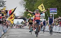 Sonny Colbrelli (ITA/Bahrain-Merida) wins the 57th Brabantse Pijl - La Flèche Brabançonne (1.HC)<br /> <br /> 1 Day Race: Leuven › Overijse (197km)