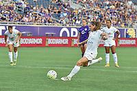 Orlando, FL - Saturday September 24, 2016: Heather O'Reilly scores penalty kick during a regular season National Women's Soccer League (NWSL) match between the Orlando Pride and FC Kansas City at Camping World Stadium. FCKC won 2-1.