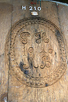 old carved wooden vat domaine g humbrecht pfaffenheim alsace france