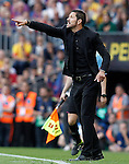 Atletico de Madrid's coach Diego Pablo Cholo Simeone during La Liga match.May 17,2014. (ALTERPHOTOS/Acero)