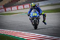 27th September 2020, Circuit de Barcelona Catalunya, Barcelona, MotoGp of Catalunya, Race Day;  Joan Mir ESP slows for a corner