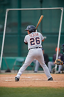 Detroit Tigers Bryan Tejada (26) bats during a minor league Spring Training game against the Atlanta Braves on March 25, 2017 at the ESPN Wide World of Sports Complex in Orlando, Florida.  (Mike Janes/Four Seam Images)