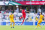 Baha' Seif of Jordan heads the ball during the AFC Asian Cup UAE 2019 Group B match between Australia (AUS) and Jordan (JOR) at Hazza Bin Zayed Stadium on 06 January 2019 in Al Ain, United Arab Emirates. Photo by Marcio Rodrigo Machado / Power Sport Images