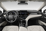 Stock photo of straight dashboard view of 2021 Toyota Camry SE 4 Door Sedan Dashboard