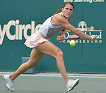 Andrea Petkovic (GER) loses to fellow German  Angelique Kerber (GER) 6-4, 6-4 in the semis at the Family Circle Cup in Charleston, South Carolina on April 11, 2015.