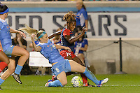 Chicago, IL - Saturday Sept. 24, 2016: Julie Johnston, Francisca Ordega during a regular season National Women's Soccer League (NWSL) match between the Chicago Red Stars and the Washington Spirit at Toyota Park.