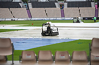 Heavy rain continues at the Hampshire Bowl during India vs New Zealand, ICC World Test Championship Final Cricket at The Hampshire Bowl on 18th June 2021