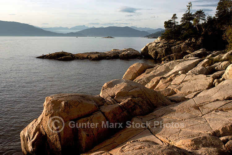 West Vancouver, BC, British Columbia Canada - Pacific Ocean / West Coast Shoreline in Lighthouse Park