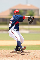 Nicholas Serino of the Gulf Coast League Nationals during the game against the Gulf Coast League Mets June 27 2010 at the Washington Nationals complex in Viera, Florida.  Photo By Scott Jontes/Four Seam Images