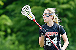 GER - Hannover, Germany, May 30: During the Women Lacrosse Playoffs 2015 match between DHC Hannover (black) and SC Frankfurt 1880 (red) on May 30, 2015 at Deutscher Hockey-Club Hannover e.V. in Hannover, Germany. Final score 23:3. (Photo by Dirk Markgraf / www.265-images.com) *** Local caption *** Martina Gercken #24 of DHC Hannover