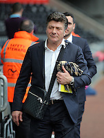 Watford manager Walter Mazzarri  arrives prior to the Premier League match between Swansea City and Watford at The Liberty Stadium on October 22, 2016 in Swansea, Wales, UK.