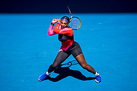 11th February 2021, Melbourne, Victoria, Australia; Serena Williams of the United States of America returns the ball during round 3 of the 2021 Australian Open on February 12 2020, at Melbourne Park in Melbourne, Australia.