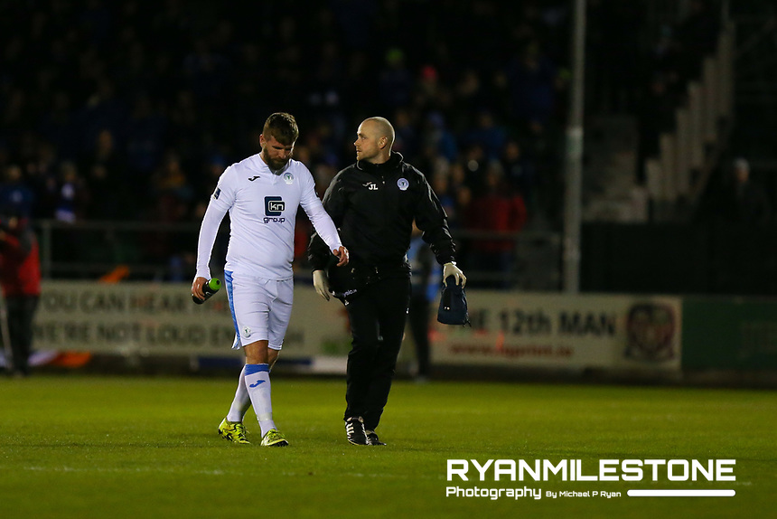 Paddy McCourt of Finn Harps is substituted during the SSE Airtricity League Promotion / Relegation Play-off Final 2nd leg game between Limerick and Finn Harps on Friday 2nd November 2018 at Markets Field, Limerick. Mandatory Credit: Michael P Ryan.