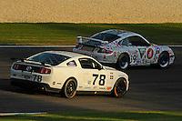 #78 Racers Edge Motorsports Mustang BOSS 302R of Rod Randall & Steve Randall (GS class) and #39 Team 3R Motosport Porsche 997 of Rick Skelton & Clint Guthrie (GS class)
