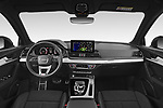Stock photo of straight dashboard view of 2021 Audi Q5 Edition-One 5 Door SUV Dashboard