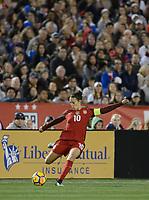San Diego, Ca - Sunday, January 21, 2018: Carli Lloyd<br />  during a USWNT 5-1 victory over Denmark at SDCCU Stadium.