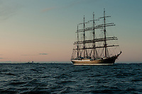 Cedov passes Utö lighthouse at sundown and enters the Baltic Sea -southern Finland