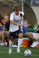 Bobby Convey runs up the left sideline. USA (0) vs Morocco (1), May 23, 2006, at The Coliseum in Nashville, Tenn.