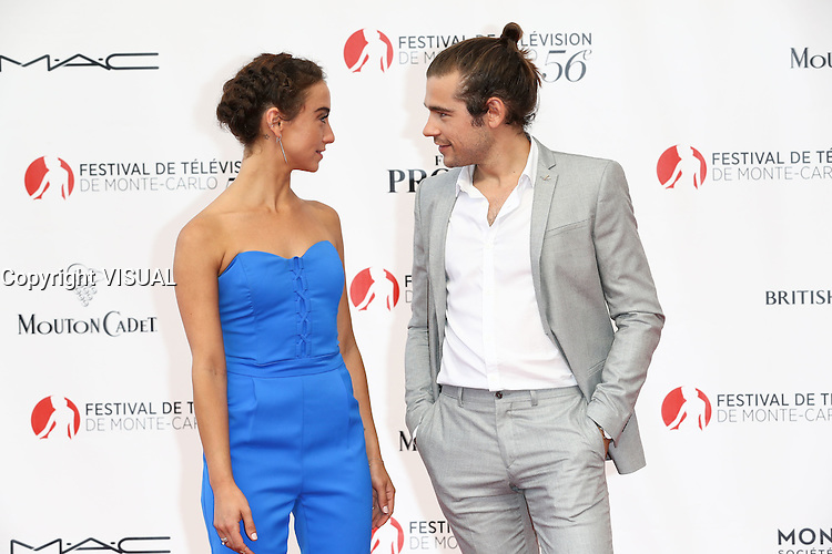 56th Monte-Carlo Television Festival opening red carpet. Maeve Stella with Ralph Jason.