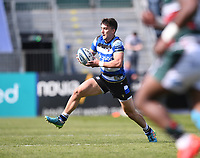 18th April 2021 2021; Recreation Ground, Bath, Somerset, England; English Premiership Rugby, Bath versus Leicester Tigers; Cameron Redpath of Bath makes an open field break