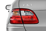 Tail light close up detail view of a 2009 Mercedes E63 AMG Wagon