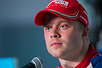 Felix Rosenqvist of Sweden from Mahindra Racing attends the press conference after the FIA Formula E Hong Kong E-Prix Round 2 at the Central Harbourfront Circuit on 03 December 2017 in Hong Kong, Hong Kong. Photo by Victor Fraile / Power Sport Images