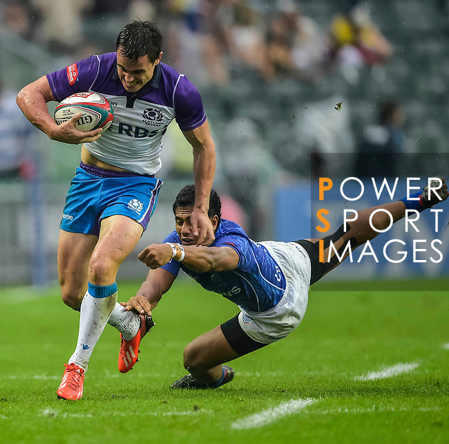 Scotland vs Samoa during the Cathay Pacific / HSBC Hong Kong Sevens at the Hong Kong Stadium on 29 March 2014 in Hong Kong, China. Photo by Juan Flor / Power Sport Images
