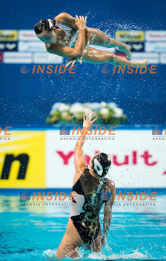 CHN - People's Republic of China<br /> GU Xiao GUO Li<br /> LI Xiaolu LIANG Xinping<br /> SUN Wenyan SUN Yijing<br /> TANG Mengni XIAO Yanning<br /> YIN Chengxin ZENG Zhen<br /> Day 9 01/08/2015<br /> XVI FINA World Championships Aquatics<br /> Synchro<br /> Kazan Tatarstan RUS July 24 - Aug. 9 2015 <br /> Photo Giorgio Scala/Deepbluemedia/Insidefoto